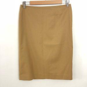 Talbots Dark Tan Pencil Skirt Size 2
